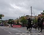 5月29日,紐約皇后區舉行了第90屆小頸-道格拉斯頓「陣亡將士紀念日」大遊行。(作者提供)