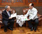 台灣高等法院檢察署王添盛檢察長(左)拜會吳澤成代理縣長。(宜蘭縣政府提供)