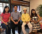 左起正声宜兰台台长 文化局局长李志勇 文夏老师及主持人。(宜兰文化局提供)