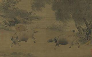话牛画──《风雨归牧图》