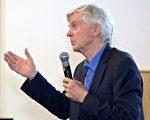 大衛‧喬高於加州大學爾灣分校(UCI)參與《難以置信》紀錄片放映座談中提到,中共從未停止活摘人體器官的惡行。(王姿懿/大紀元)