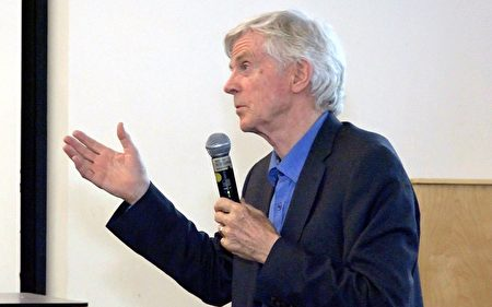 大卫‧乔高于加州大学尔湾分校(UCI)参与《难以置信》纪录片放映座谈中提到,中共从未停止活摘人体器官的恶行。(王姿懿/大纪元)