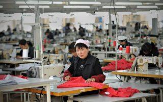 時裝區的工廠中60%的工人是中國人。 (Philppe Lopez/AFP/Getty Images)
