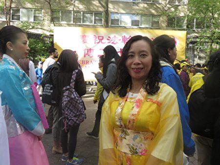 来自加拿大的华人Faith Chen女士。(绍燕/大纪元)