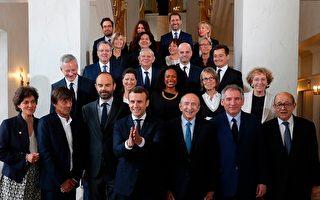 马克隆的新政府内阁成员23人,其中有3位国务部长、16位部长和4位国务秘书。 (PHILIPPE WOJAZER/AFP/Getty Images)
