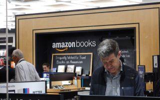 美国网络零售商亚马逊在纽约开的第一家实体店。 (张谦/大纪元)