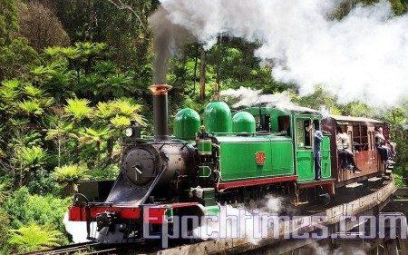 PUFIN BILLY 蒸汽小火车。(大纪元)