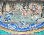 頤和園長廊彩繪:魯智深大鬧野豬林。(公有領域)