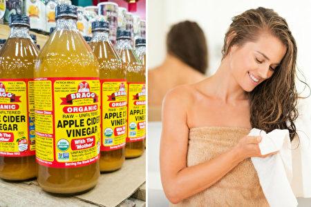 """醋在美容美发领域相当活跃。特别是苹果原醋,其中的""""醋母""""不但富含益生菌,还可作为线状酶(酵素)让头发柔滑有弹力。它还具有去缠结、去头屑的功效。(ThamKC/ Alliance/Shutterstock)"""