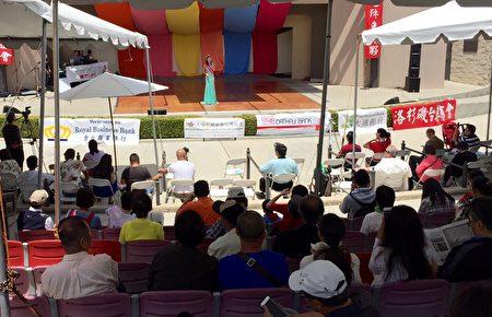 大洛杉矶台美人传统周重头戏美食文化园游会5月14日在蒙市巴恩斯公园举行。 (袁玫/大纪元)