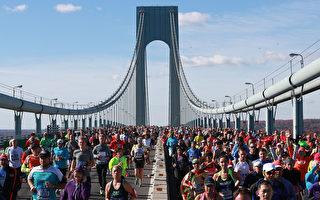 2016年11月6日在纽约布鲁克林参加马拉松比赛的人们。(Michael Reaves/Getty Images)
