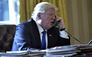 美國總統川普(特朗普)週二(5月2日)和俄羅斯總統普京通話,這是美國4月初空襲敘國空軍基地後,川普首次和普京通話。(MANDEL NGAN/AFP/Getty Images)