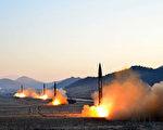5月29日,朝鮮再次試射導彈,這是朝鮮近三週內第三次發射導彈。美國總統川普(特朗普)發推文說,朝鮮再次試射導彈是對中國「極度無禮」。圖為朝鮮3月6日試射4枚導彈。(STR/AFP/Getty Images)