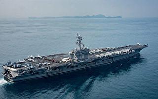 美國卡爾文森號航母戰鬥群已抵達朝鮮半島附近海域,參加與韓國的聯合軍演。美國太平洋艦隊司令表示,卡爾文森號一旦接令,兩小時內即可對朝鮮實施打擊。(Mass Communication Specialist 2nd Class Sean M. Castellano / U.S. Navy via Getty Images)