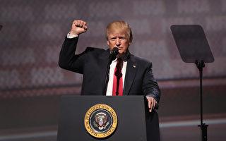 對於朝鮮半島危機的應對戰略,美國總統川普(特朗普)週一表示,不會劃紅線,該出手時就行動。(Scott Olson/Getty Images)