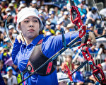 谭雅婷。  (Photo by Dean Alberga/World Archery Federation via Getty Images)