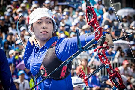 谭雅婷。  (Photo by Dean Alberga/World Archery Federation via Getty Images)