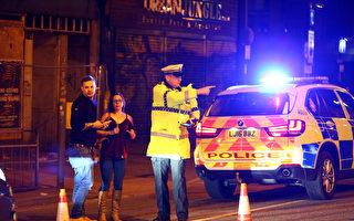 當地時間週一(5月22日)晚,英國曼徹斯特競技場(Manchester Arena)發生爆炸事件,警方確認「多人死亡」。(Photo by Dave Thompson/Getty Images)