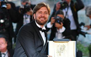 瑞典导演鲁本‧奥斯特伦德执导的《自由广场》夺得第70届戛纳影展金棕榈奖。(LOIC VENANCE/AFP/Getty Images)