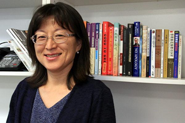 Carol张女士接受大纪元采访。(徐绣惠/大纪元)
