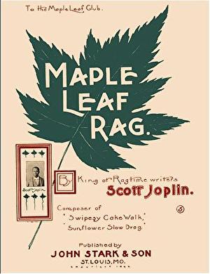 乔普林成名曲《Maple Leaf Rag》第三期封面。(公有领域)
