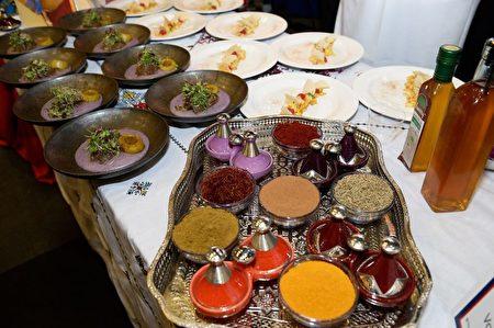 摩洛哥大使馆送评佳肴。(里根大厦提供)
