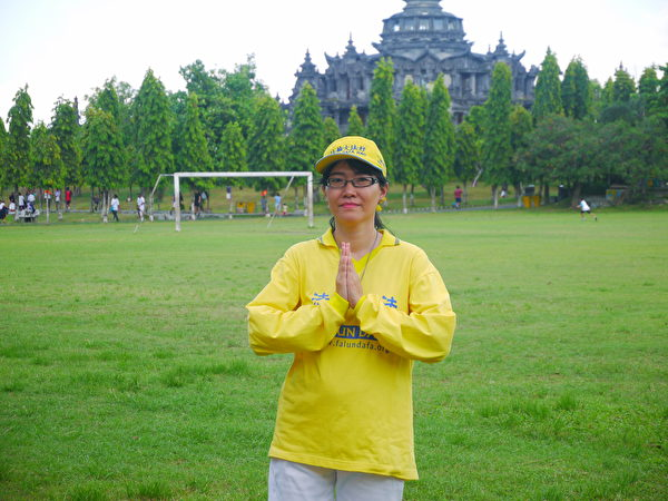 印尼華裔法輪功學員朱利。(蕭律生/大紀元)