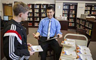 今年29歲的華裔教師彭榮傑被《華盛頓郵報》評為大華府地區年度最佳教師。(彭榮傑提供)