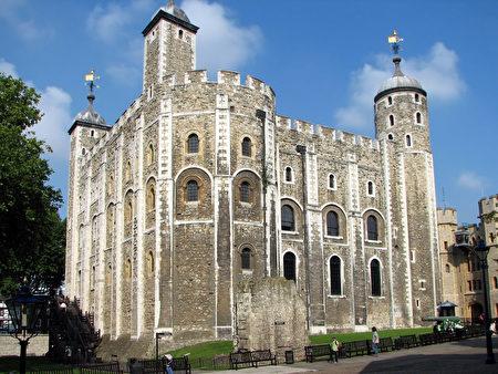 征服者威廉在倫敦留下的白塔(維基百科公有領域)