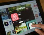 短期租房平臺網站Airbnb上出現可負擔住房被出租牟利。 (Macdougall/AFP/Getty Images)
