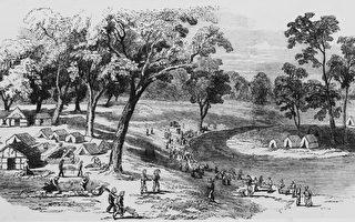 1852年,澳洲淘金時代在維州Ballarat 金礦資料圖。(Hulton Archive/Getty Images)
