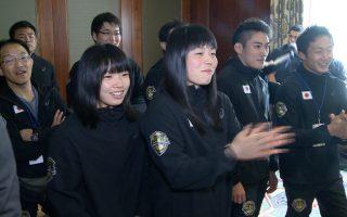 日本摔跤选手们。 (奥利弗/大纪元)
