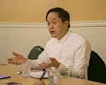 5月21日,國立台灣藝術大學陳志誠校長,在灣區向媒體介紹台藝大的最新發展。(曹景哲/大紀元)