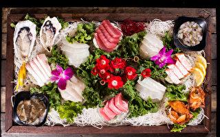 「海人」海鮮餐廳充滿創造力的壽司拼盤。(餐廳提供)