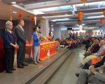 (左起)伍宝玲、华策会创会人刘毛淑卿、何永康与陈倩雯昨日在人瑞中心的庆祝活动上。 (蔡溶/大纪元)