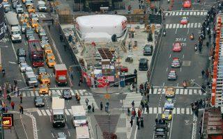 未来,纽约拟关闭时代广场七大道路段。 (Nick Laham/Getty Images)