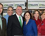 维吉尼亚州共和党籍州长候选人格里斯佩(Ed Gillespie在今年1月的造势活动上。(何伊/大纪元)