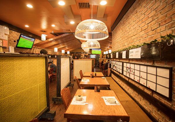 """""""海人""""海鲜餐厅刚刚开业一年多,就已经被社区民众被所熟知。(张学慧/大纪元)"""