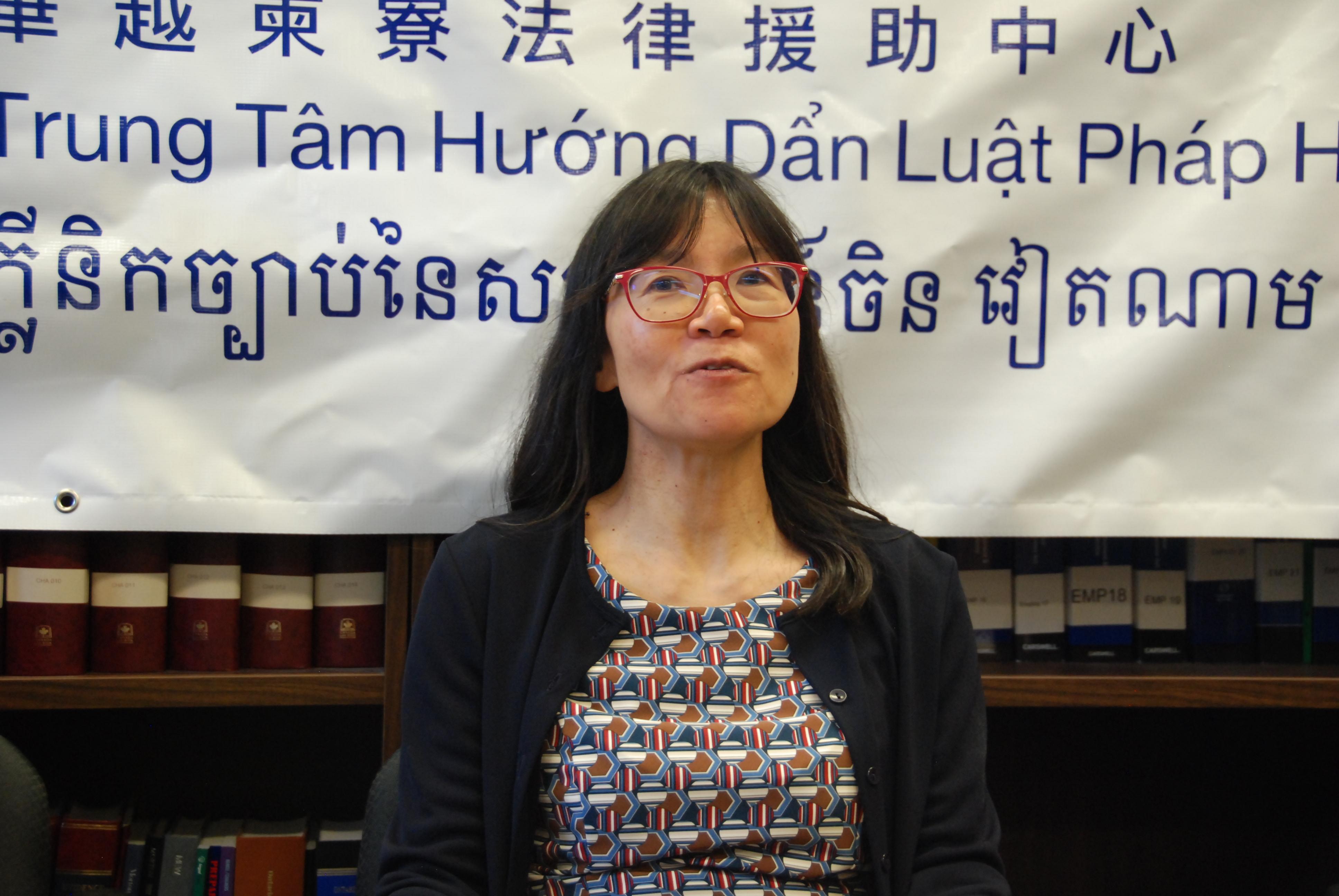 华越柬寮法律援助中心总监吴瑶瑶律师。(伊铃/大纪元)