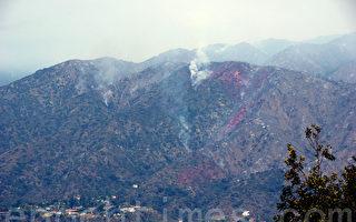 2016年6月,阿蘇薩的水庫火災(Reservoir Fire)和杜瓦迪的魚火(Fish Fire)被統一稱為「聖蓋博大火」(San Gabriel Complex Fire)。(劉菲/大紀元)