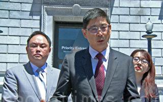 旧金山华裔民主党主席朱元吉表示,将统一协调全市反对大麻药店的活动。(大纪元)