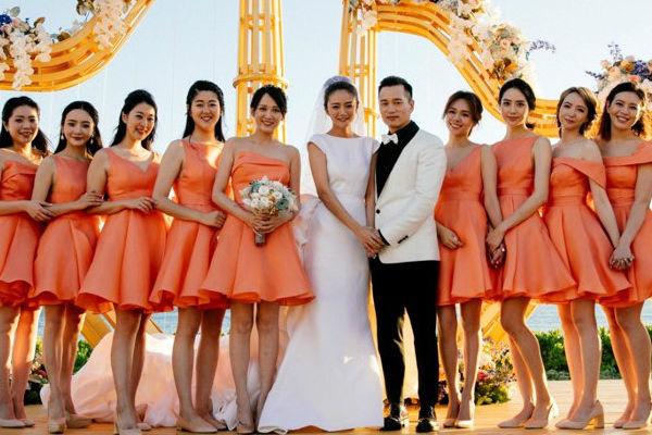 安以轩夏威夷大婚 10位伴娘陪嫁 风光热闹