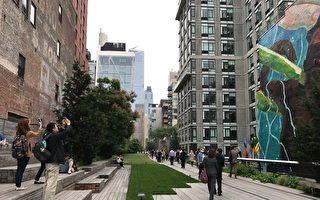 High line park留下工業時代的建築,保留歷史的遺跡。(嘉義市政府提供)