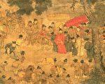 《望贤迎驾图》,描叙唐玄宗从四川回到长安的场景。(公有领域)