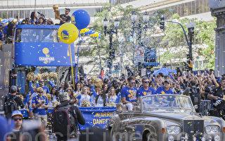 勇士NBA總冠軍慶功大遊行 百萬球迷齊歡慶