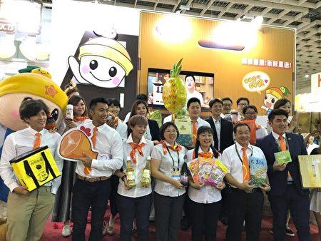 高市農民團體、型農和19家廠商以上百種的優質農特產品參加台北國際食品展。(高市農業局提供)