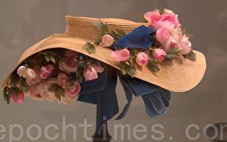 旧金山美术馆展出的19世纪法国女帽。(大纪元)