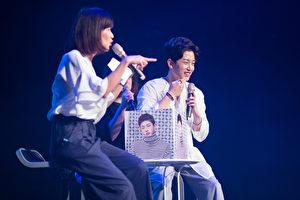 韓國男星金玟錫(右)25日在台北舉行《金玟錫首次台北見面會~初次見面你好嗎~》。(avex提供)