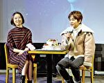 《韩流世界》主持人慧秀专访金桢勋。(新唐人提供)