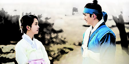 金所炫(左)飾武士家族的女兒,擁有寬大的胸懷和正義感,聰明又有氣質。(新唐人電視台)